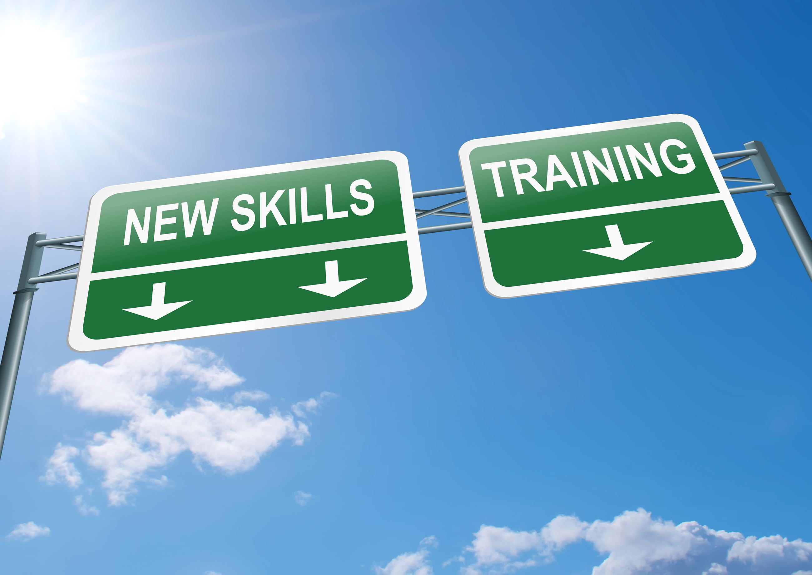 skills and training signs