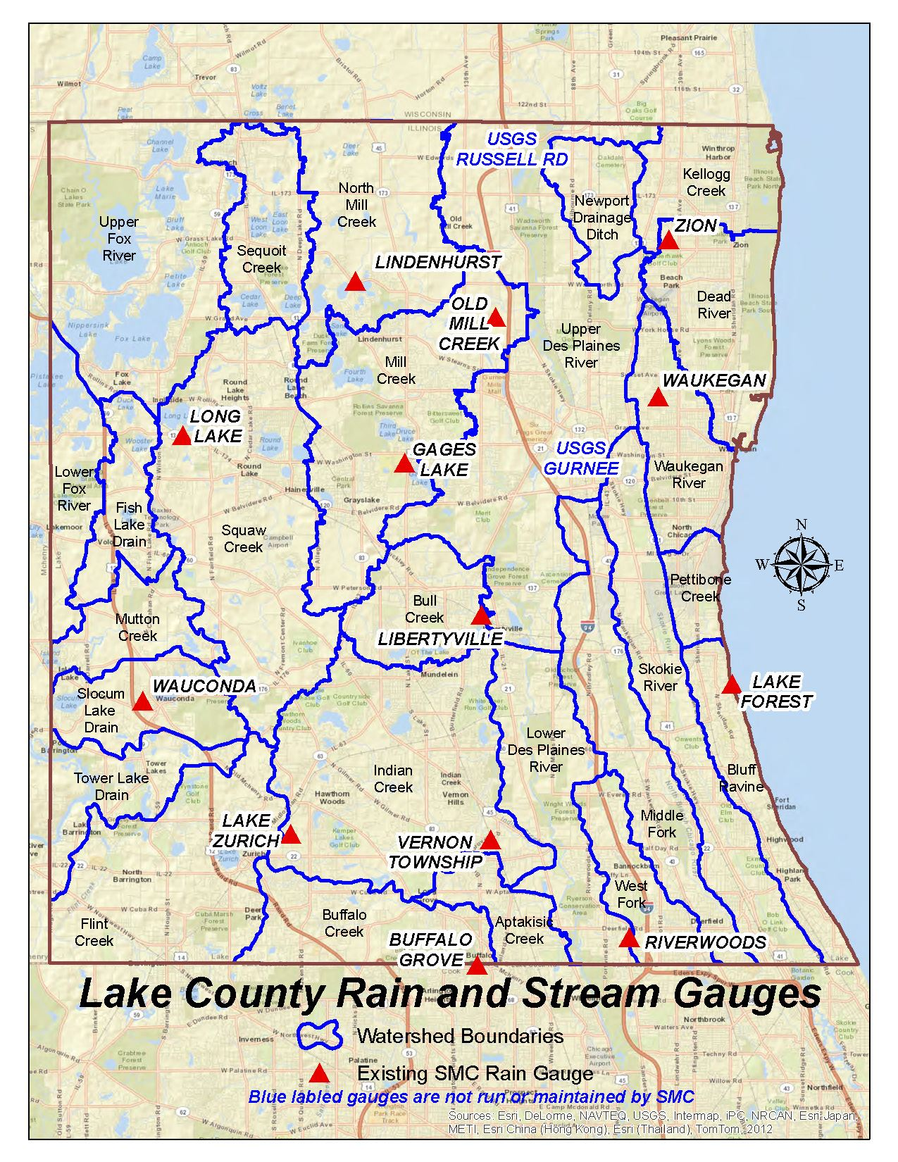 Rainfall Lake County Il - Il-on-us-map